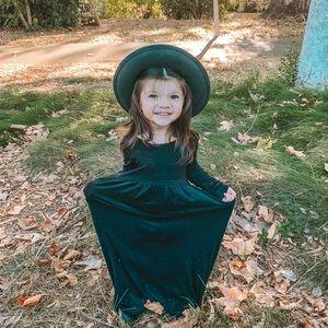 Toddler Black maxi dress